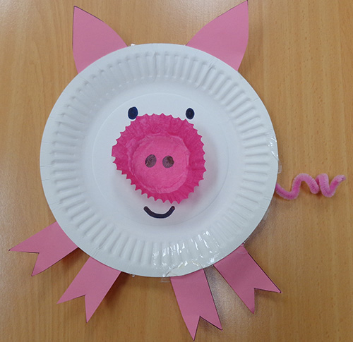 Paper Plate Pig Playgroup Sa